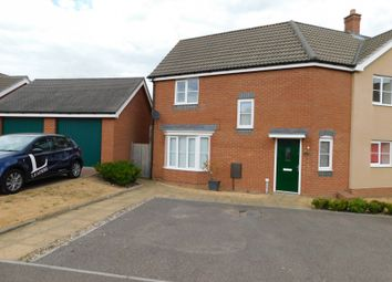 Thumbnail 3 bed semi-detached house to rent in Waxwing Way, Costessey, Norwich