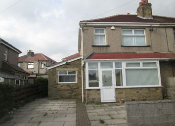 Thumbnail 3 bed semi-detached house to rent in Wrose Road, Shipley, West Yorkshire