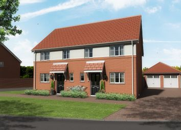 Thumbnail 3 bed semi-detached house for sale in Claydon Park, Off Beccles Road, Gorleston