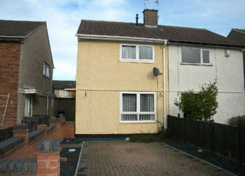 Thumbnail 2 bed semi-detached house to rent in Twickenham Road, Glen Parva, Leicester