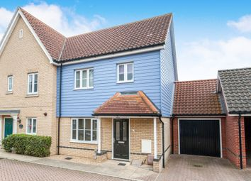 Thumbnail 3 bed semi-detached house for sale in Greenfinch Close, Stowmarket