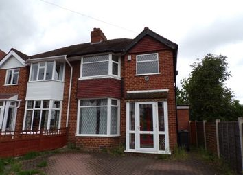 Thumbnail 3 bed semi-detached house to rent in Douglas Road, Sutton Coldfield, West Midlands