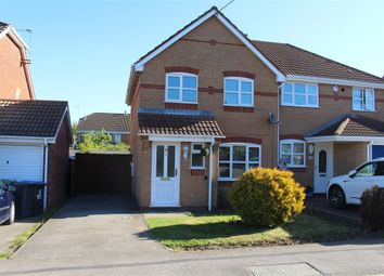 Thumbnail 3 bed semi-detached house for sale in Benford Gardens, Broughton Astley, Leicester
