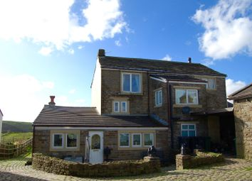 Thumbnail 5 bed farmhouse for sale in Quickedge Road, Mossley