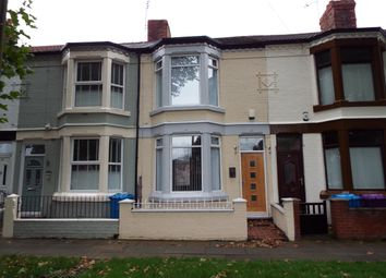 Thumbnail 3 bed terraced house to rent in Stanley Park Avenue South, Liverpool