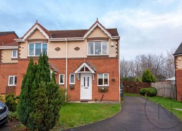 Thumbnail 2 bed semi-detached house for sale in Wederly Close, Darlington