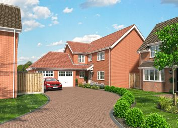 Thumbnail 4 bed detached house for sale in Fallowfields, Lowestoft
