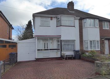 Thumbnail 3 bed semi-detached house for sale in Lindsworth Road, Birmingham