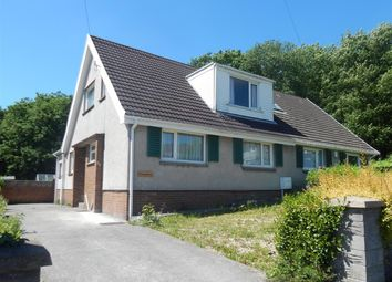Thumbnail 3 bed semi-detached bungalow for sale in Garth View, Ynysforgan, Swansea