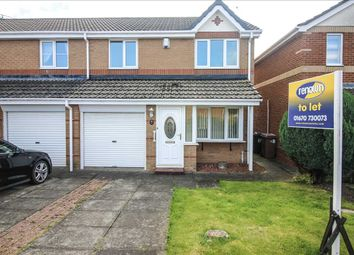 Thumbnail 3 bed semi-detached house to rent in Primrose Close, Annitsford, Cramlington