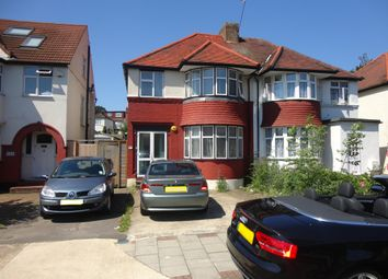Thumbnail 3 bed semi-detached house to rent in Great North Way, Hendon