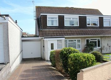 Thumbnail 3 bed semi-detached house for sale in Symons Close, St. Austell