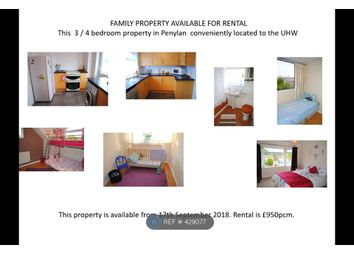 Thumbnail 4 bed bungalow to rent in Penylan, Cardiff