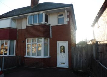 Thumbnail 2 bed semi-detached house to rent in Hardwick Road, Solihull