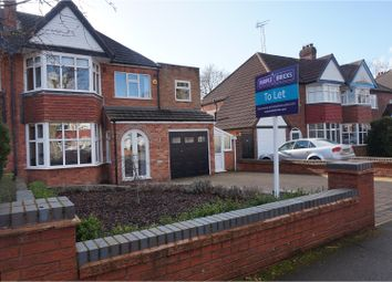 Thumbnail 4 bed semi-detached house to rent in Ladbrook Road, Solihull
