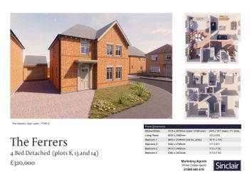 Thumbnail 4 bedroom detached house for sale in The Heavens - Hardy Way, East Leake, Leicestershire