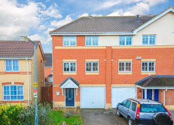 Thumbnail 3 bed town house for sale in Abbots Close, Kettering