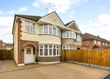 Thumbnail 3 bed semi-detached house for sale in Hevers Avenue, Horley, Surrey