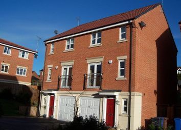 Thumbnail 3 bed town house to rent in Badgerdale Way, Littleover, Derby