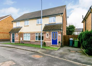 Thumbnail 3 bedroom semi-detached house for sale in Yarrow Close, Cardiff