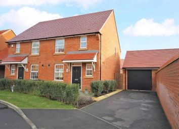 Thumbnail 3 bed semi-detached house for sale in Agincourt Drive, Sarisbury Green, Southampton