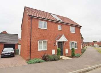 Thumbnail 3 bed detached house for sale in Albini Way, Wymondham