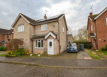 Thumbnail 2 bed semi-detached house for sale in Highfields, Debden, Saffron Walden, Essex