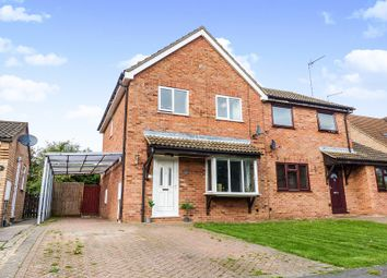Thumbnail 3 bed semi-detached house for sale in Stanch Hill Road, Sawtry, Huntingdon, Cambridgeshire.