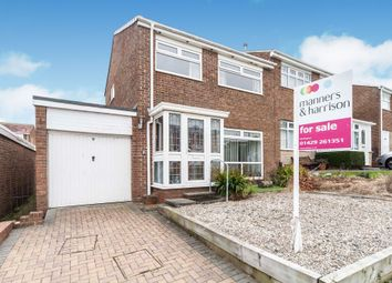 Thumbnail 3 bed semi-detached house for sale in Carnoustie Grove, Hartlepool