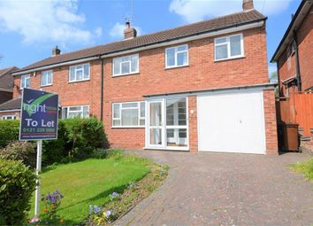 Thumbnail 3 bed semi-detached house to rent in Douglas Road, Hollywood, Birmingham