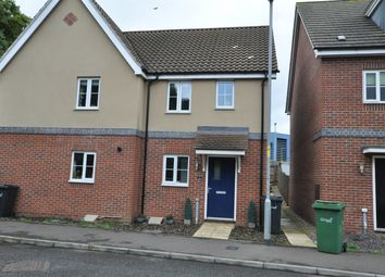Thumbnail 2 bed semi-detached house to rent in Dr Torrens Way, New Costessey, Norwich