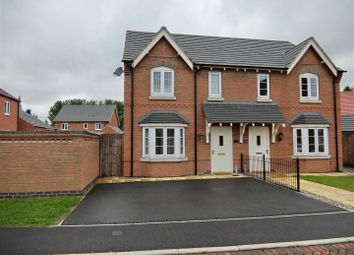 Thumbnail 3 bed semi-detached house for sale in George Avenue, Ibstock, Leicestershire