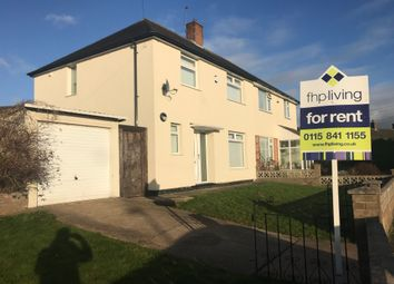 Thumbnail 3 bed semi-detached house to rent in Glencoe Road, Clifton, Nottingham