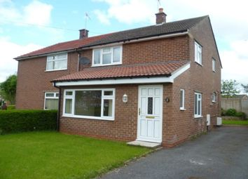 Thumbnail 3 bed semi-detached house to rent in Briar Lane, Weaverham, Northwich