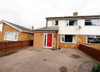 Thumbnail 3 bed semi-detached house for sale in Rustens Manor Road, Wymondham, Norfolk