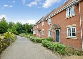 Thumbnail 3 bed terraced house for sale in Grebe Court, Costessey, Norwich, Norfolk