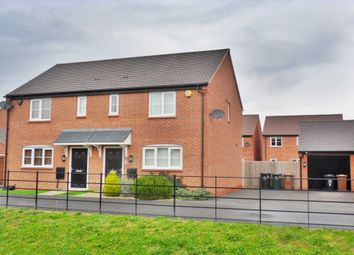 Thumbnail 3 bed semi-detached house for sale in Northborough Way, Boulton Moor, Derby