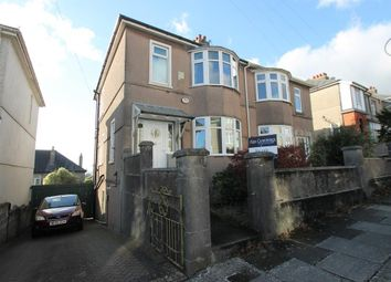 Thumbnail 3 bed semi-detached house for sale in Berrow Park Road, Plymouth