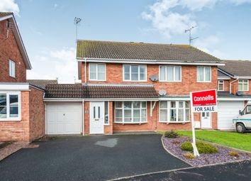 Thumbnail 3 bed semi-detached house for sale in Norman Road, Penkridge, Stafford