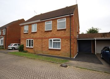 Thumbnail 3 bed semi-detached house to rent in Bradfield Close, Rushden, Northamptonshire.