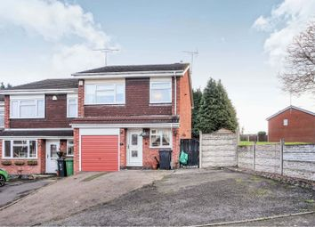 Thumbnail 3 bedroom town house for sale in Chichester Avenue, Dudley