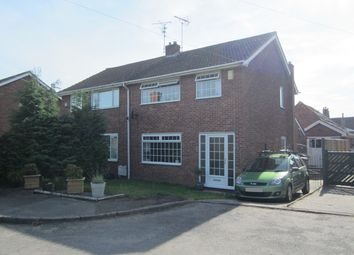 Thumbnail 3 bed semi-detached house to rent in Royal Oak Court, Edwinstowe, Nottinghamshire
