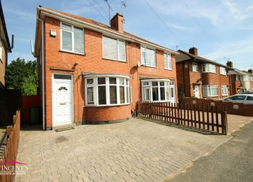 Thumbnail 3 bed semi-detached house for sale in Shottery Avenue, Leicester