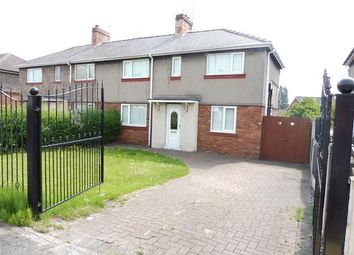 Thumbnail 3 bed semi-detached house to rent in Cross Street, Thurcroft, Rotherham