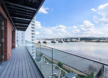 Thumbnail 3 bed flat to rent in Summerston House, Royal Wharf, London