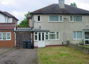 Thumbnail 3 bed semi-detached house to rent in Cliveden Avenue, Birmingham