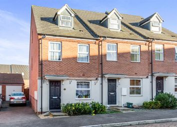 Thumbnail 3 bed town house for sale in Siskin Close, Corby
