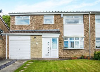 Thumbnail 4 bed semi-detached house for sale in Carrsyde Close, Whickham, Newcastle Upon Tyne