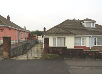 Thumbnail 2 bedroom semi-detached bungalow for sale in Llanllienwen Close, Ynysforgan, Swansea