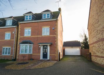 Thumbnail 5 bed town house for sale in Woodlands Court, Oadby, Leicester